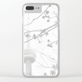 Somber tower Clear iPhone Case