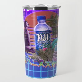 Vaporwave Fiji Bottle Travel Mug