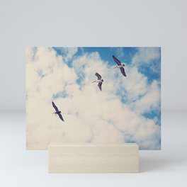 Flying Over Seas Mini Art Print