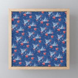 Snowy Princess Castle Framed Mini Art Print