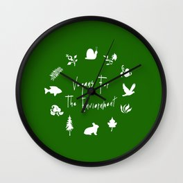Vegans for The Enviornment Wall Clock