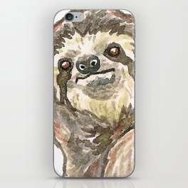 Sloth with Bunting #3 iPhone Skin