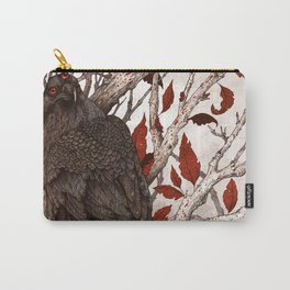 A Raven In Winter Carry-All Pouch