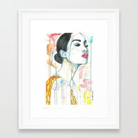 watercolour Framed Art Prints featuring watercolour by Udya