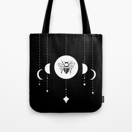 Bee & Moon Phases Tote Bag