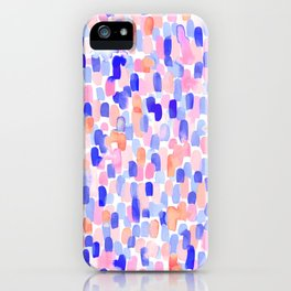 Delight Blue Orange iPhone Case