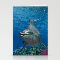 dolphins Stationery Cards featuring Dolphins by Simone Gatterwe