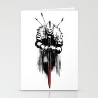 dark souls Stationery Cards featuring Dark Souls by Marcos Raya Delgado