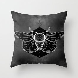 Moth Vignette Throw Pillow