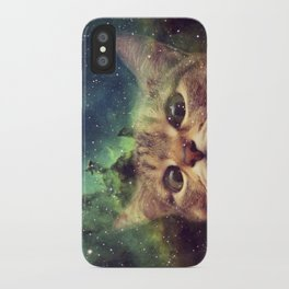 Cat Staring into Space iPhone Case
