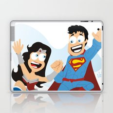 couple dressed as heroes. Laptop & iPad Skin