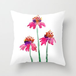 Echinacea Throw Pillow