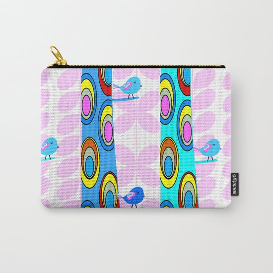 Birds and colorful trees Carry-All Pouch
