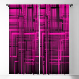 Black and purple abstract Blackout Curtain
