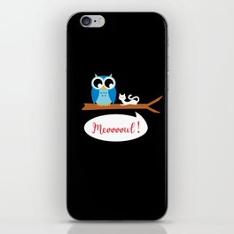 Meoooowl iPhone Skin