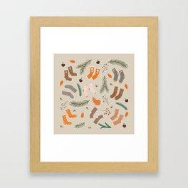 Stay Warm Framed Art Print