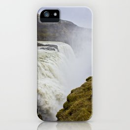 Mist Rising up from Gullfoss Waterfall in Iceland iPhone Case