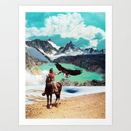 The eagle's journey Art Print