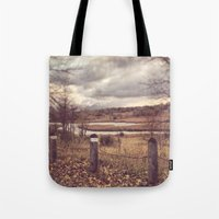 river Tote Bags featuring River by Anthony Londer
