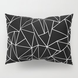 Abstraction Outline Black and White Pillow Sham
