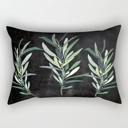 Eucalyptus Branches On Chalkboard Rectangular Pillow