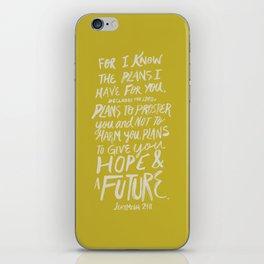 Jeremiah 29: 11 x Mustard iPhone Skin