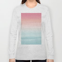Touching Watercolor Abstract Beach Dream #1 #painting #decor #art #society6 Long Sleeve T-shirt