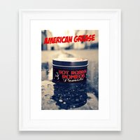 grease Framed Art Prints featuring American grease by Vorona Photography