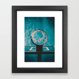 basketball hoop 6 Framed Art Print