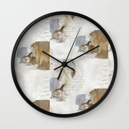Abstract Leaves in Neutral Colours Wall Clock
