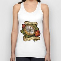 compass Tank Tops featuring Compass by hvelge