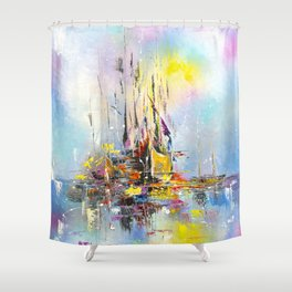 ILLUSIVE BOATS Shower Curtain