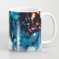 pacific rim Mugs featuring Pacific Rim: Gipsy Danger by Bolin Cradley Art