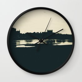 Silhouette des Dresdener Elbufers Wall Clock