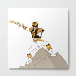 The White Ranger Metal Print