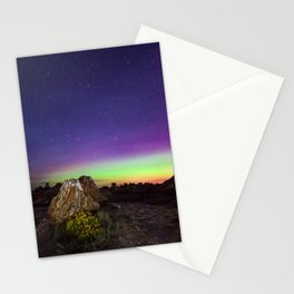 Northern Lights and Petrified Tree Stump Stationery Cards