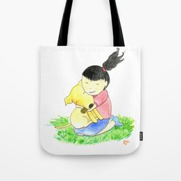 Bia and Little Bread Hugging Tote Bag