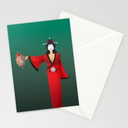 Vector Geisha (Turning Japanese) Stationery Cards