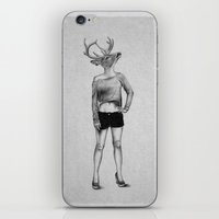 antler iPhone & iPod Skins featuring . antler . by Andrew Brooke