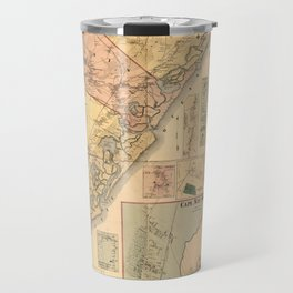Map Of Cape May 1872 Travel Mug
