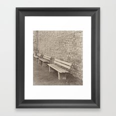 Saving a Seat for You Framed Art Print