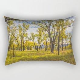 Cottonwoods, Theodore Roosevelt NP, ND 2 Rectangular Pillow