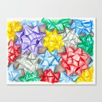 bows Canvas Prints featuring Bows by Lady Tanya bleudragon