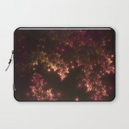 Fractal Leaves Red Glow Laptop Sleeve