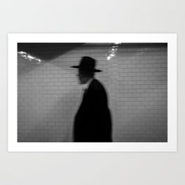 Old Man with a Hat, B Art Print
