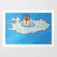 Island's tree Art Print