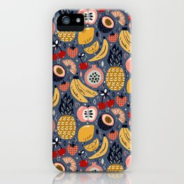 Winter Fresh Funky Fruit iPhone Case