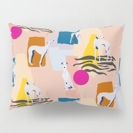 Greyhound colorful abstract pattern Pillow Sham