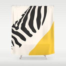 Zebra Abstract Shower Curtain