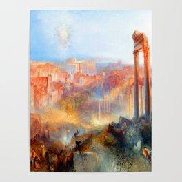 William Turner Modern Rome Poster